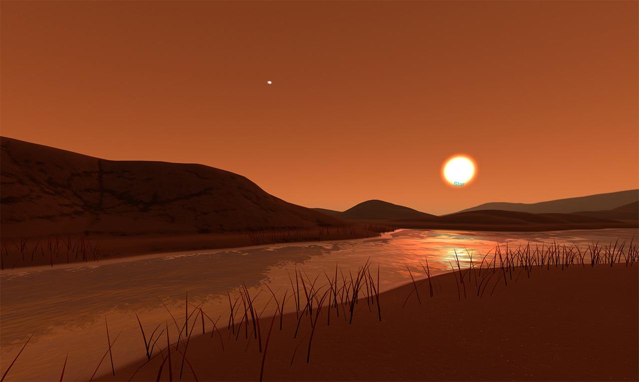 Εικονογραφημένη, φανταστική επιφάνεια του εξωπλανήτη  Kepler-186f
