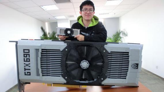 κινέζος κατασκευάζει κάρτα γραφικών με lego